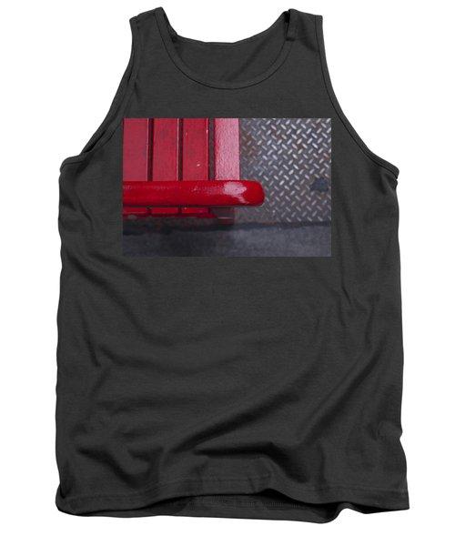 Little Red Bench Tank Top by Henri Irizarri