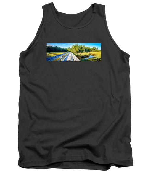 Little River Marsh Tank Top by David Smith