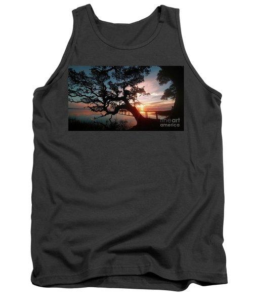 Tank Top featuring the photograph Live Oak Sunrise by Benanne Stiens