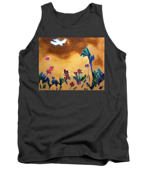Tank Top featuring the painting Living Earth by Winsome Gunning
