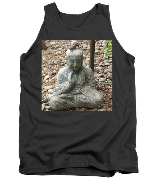 Tank Top featuring the painting Lizard Zen by Kim Nelson