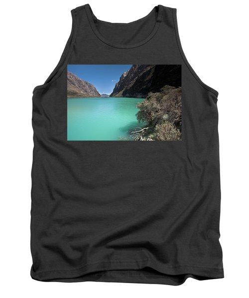 Llanganuco Lakes In Cordillera Blanca Tank Top