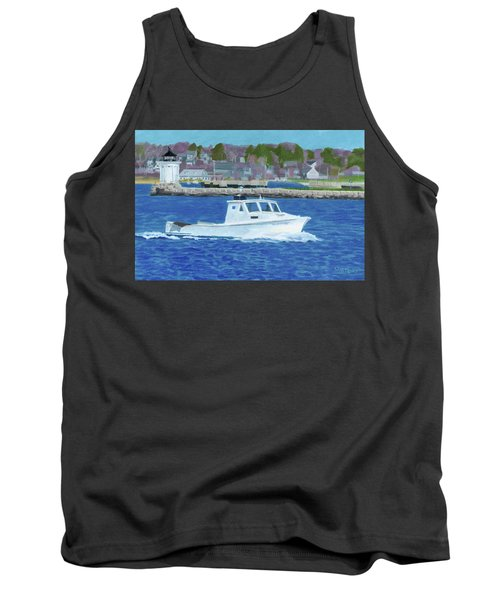 Lobster Boat And Bug Light Tank Top