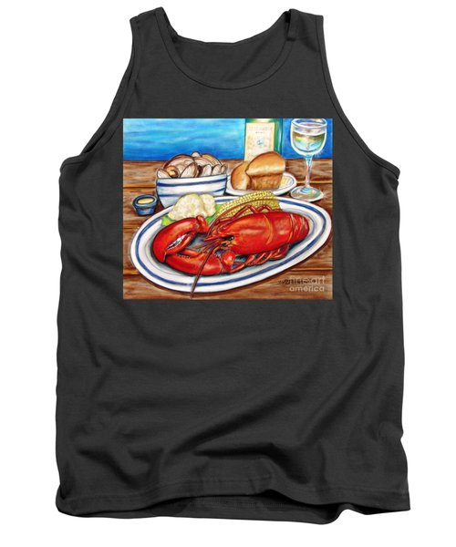 Lobster Dinner Tank Top by Patricia L Davidson