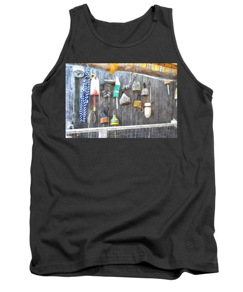 Lobster Markers Lmwc Tank Top by Jim Brage