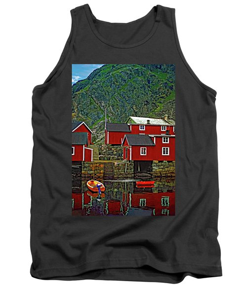 Lofoten Fishing Huts Tank Top