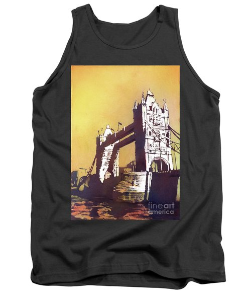 Tank Top featuring the painting London Bridge- Uk by Ryan Fox