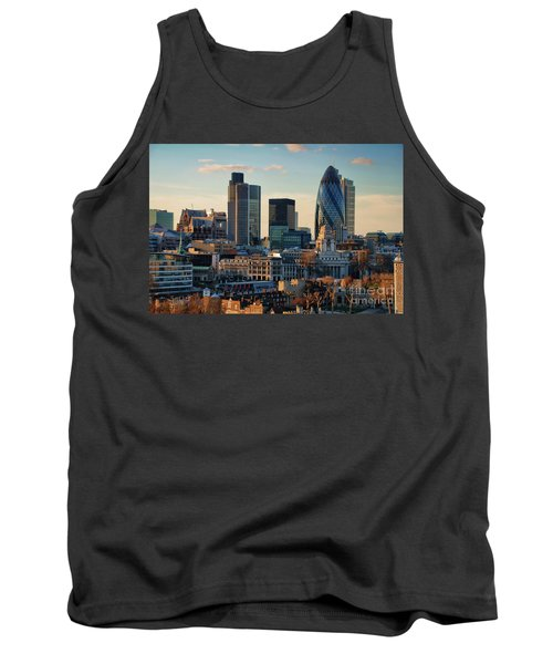 Tank Top featuring the photograph London City Of Contrasts by Lois Bryan