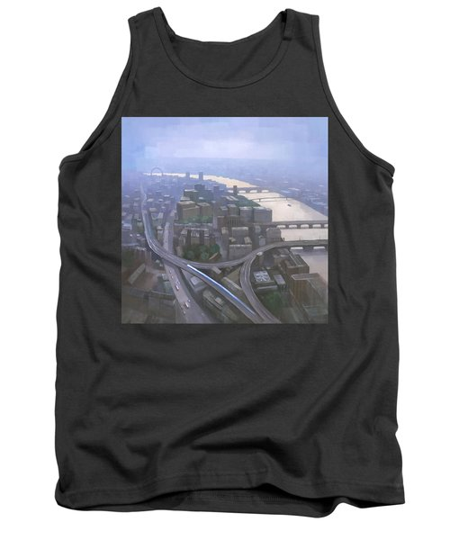 London, Looking West From The Shard Tank Top by Steve Mitchell
