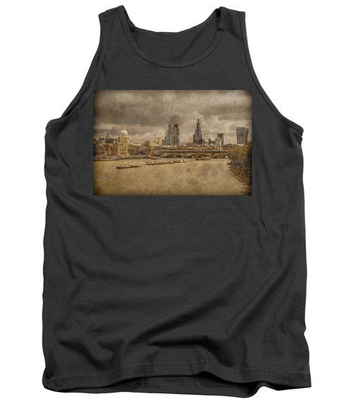 London, England - London Skyline East Tank Top