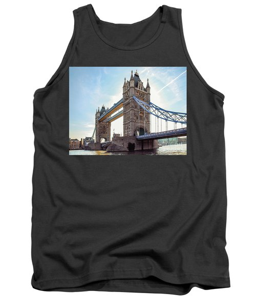 Tank Top featuring the photograph London - The Majestic Tower Bridge by Hannes Cmarits