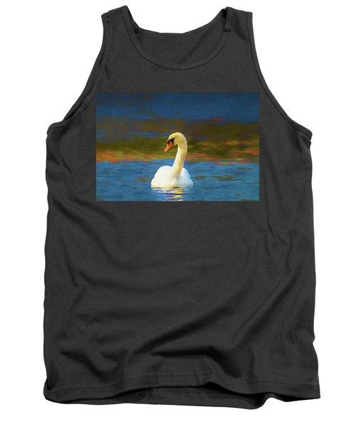 Lone Mute Swan. Tank Top