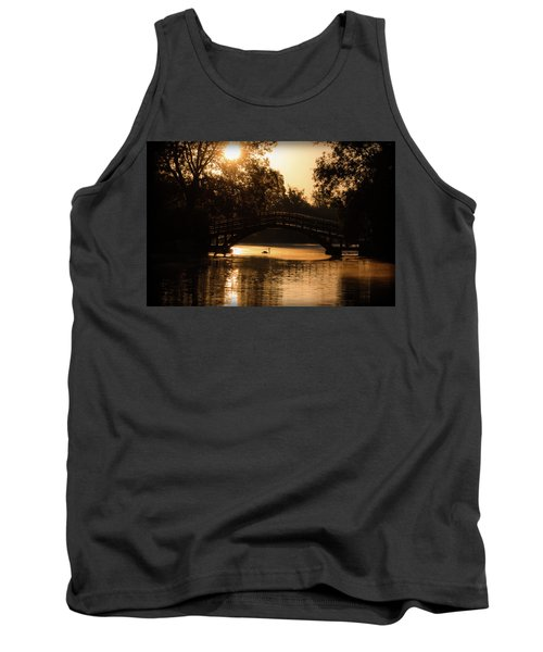 Lone Swan Up For Dawn Tank Top