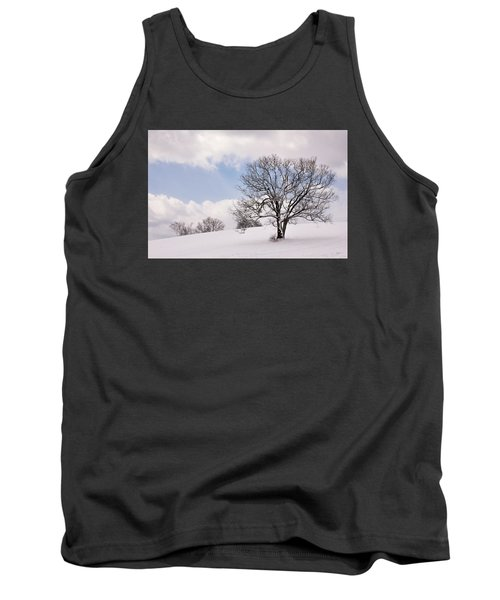 Lone Tree In Snow Tank Top by Betty Denise
