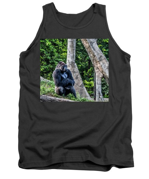 Tank Top featuring the photograph Lonely Gorilla by Joann Copeland-Paul