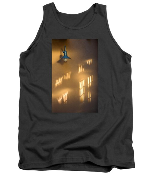 Lonely Lamp Among Sunrise Window Light Reflections Tank Top by Gary Slawsky