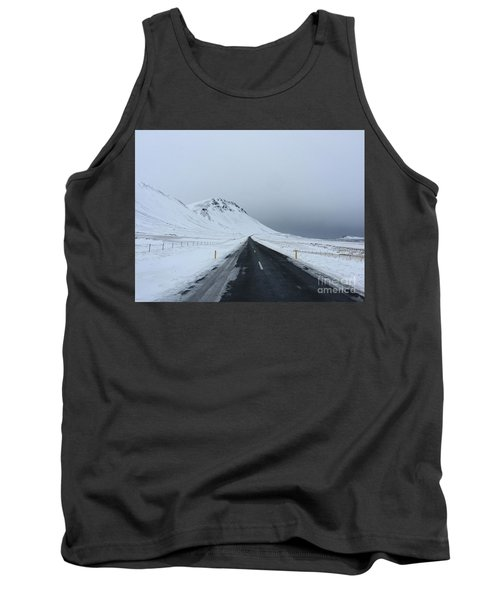 Lonely Road On Snaefellsnes Peninsula Tank Top