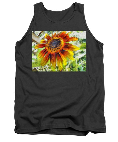 Lonely Sunflower Tank Top