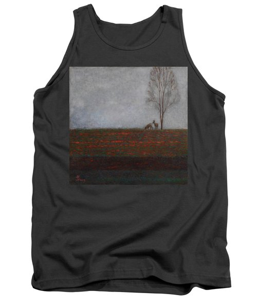Lonely Tree With Two Roes Tank Top