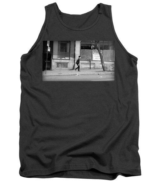 Tank Top featuring the photograph Lonely Urban Walk by Valentino Visentini