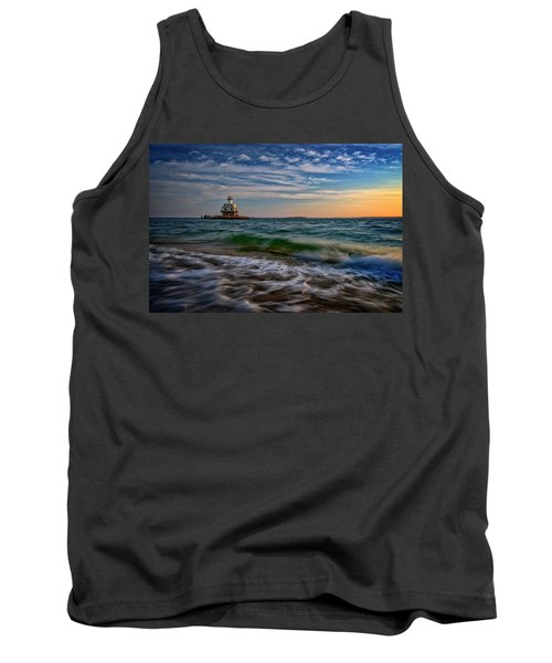 Long Beach Bar Lighthouse Tank Top