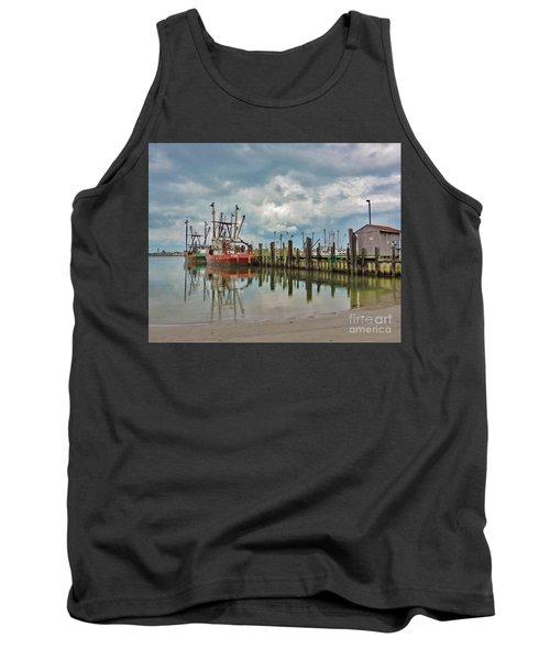 Long Beach Island Docks Tank Top