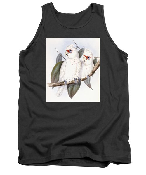 Long-billed Cockatoo Tank Top by John Gould