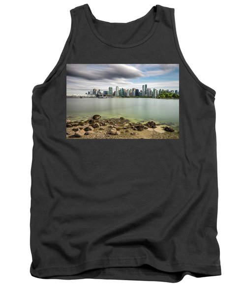 Tank Top featuring the photograph Long Exposure Of Vancouver City by Pierre Leclerc Photography