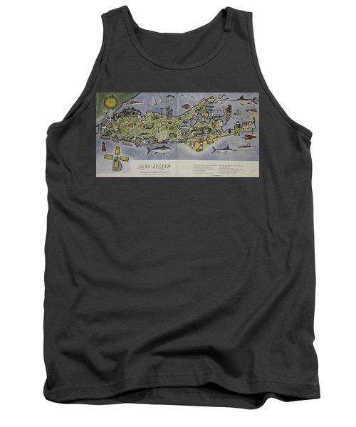 Tank Top featuring the photograph Long Island An Interpretive Cartograph by Duncan Pearson
