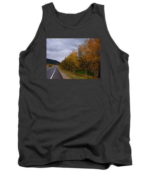 Tank Top featuring the photograph Long Lonesome Hiway by Laura Ragland