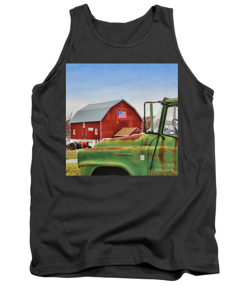 Tank Top featuring the photograph Long May She Wave by DJ Florek