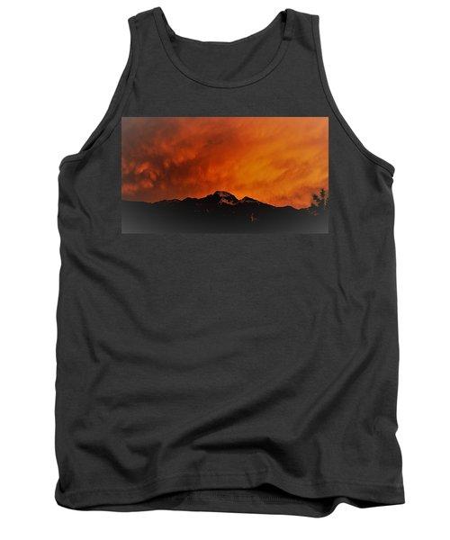 Longs Peak Sunset Tank Top