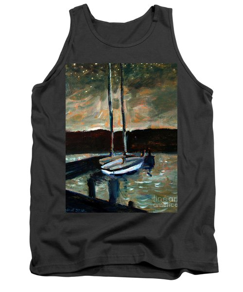 Looking Across Upper Lake Camp Wayne Tank Top by Charlie Spear