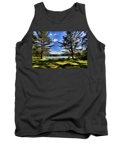 Looking At The Moose River Tank Top by David Patterson