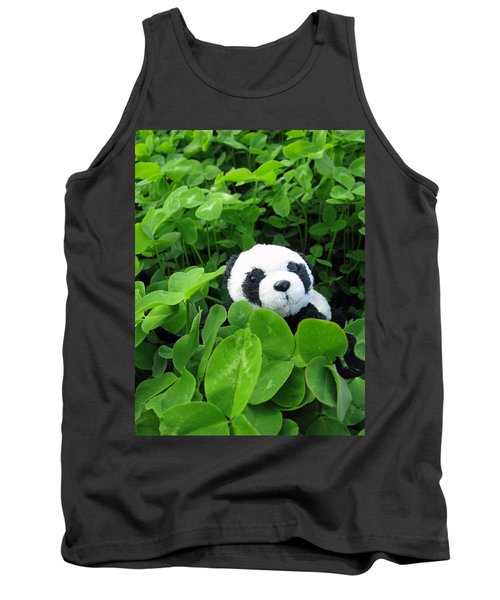 Tank Top featuring the photograph Looking For A Lucky Clover by Ausra Huntington nee Paulauskaite