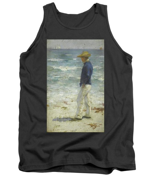 Tank Top featuring the painting Looking Out To Sea by Henry Scott Tuke