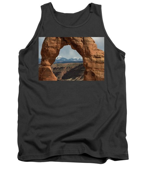 Tank Top featuring the photograph Looking Through Delicate Arch by Jennifer Ancker