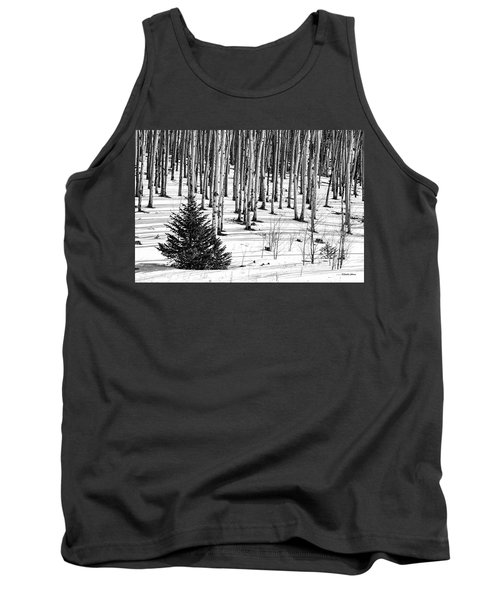 Looking Through The Aspen Black And White Tank Top