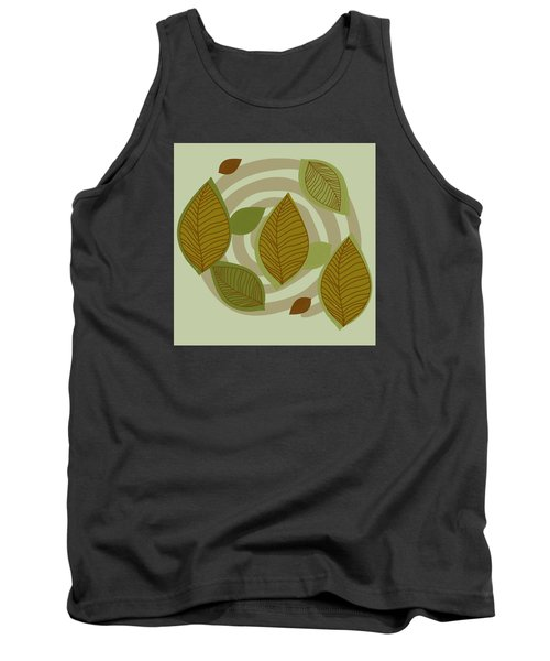 Tank Top featuring the drawing Looking To Fall by Kandy Hurley