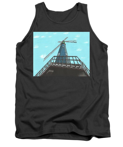Looking Up At A Windmill Tank Top