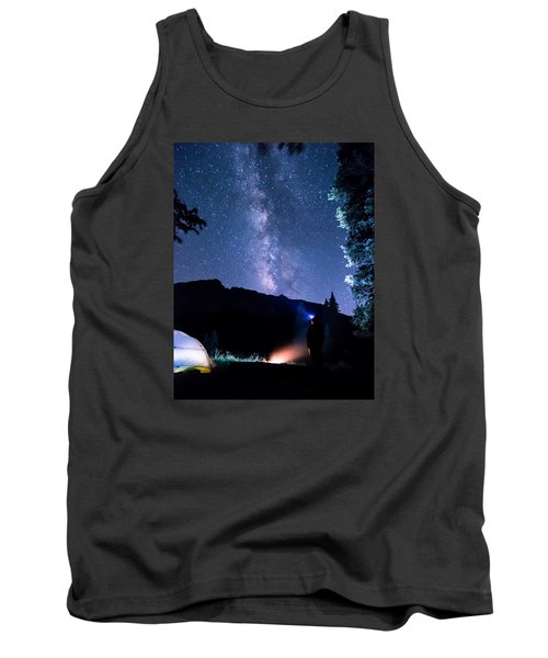 Looking Up At Milky Way Tank Top by Michael J Bauer