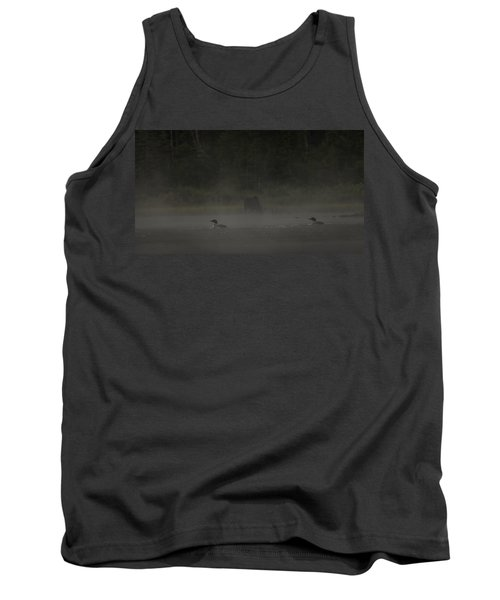 Loon And Moose In The Mist Tank Top