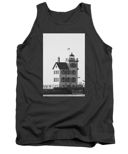 Lorain Lighthouse In Black And White Tank Top