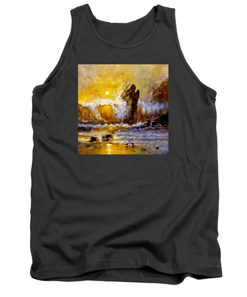 Tank Top featuring the painting Lost In A Sunset.. by Cristina Mihailescu