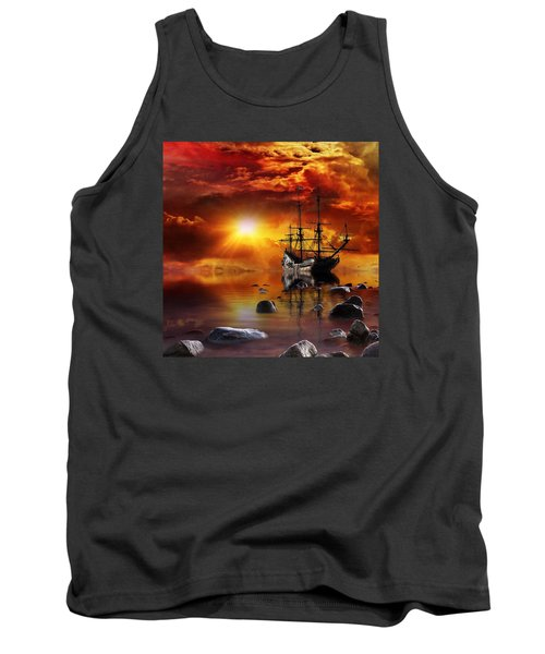 Tank Top featuring the mixed media Lost In Time by Gabriella Weninger - David