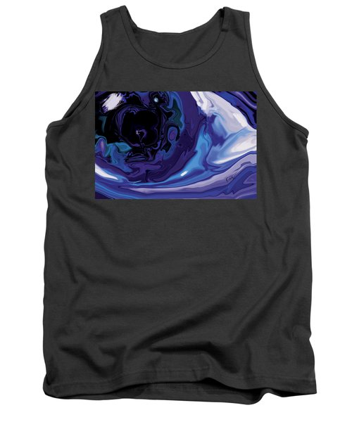 Lost-in-to-the-eye Tank Top by Rabi Khan