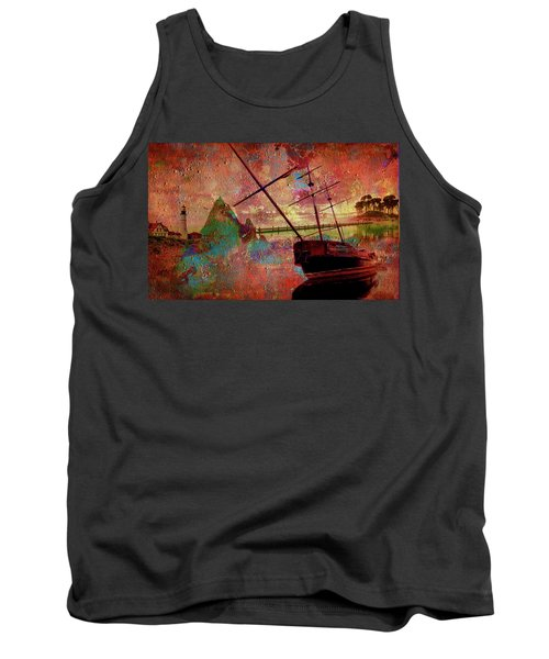 Tank Top featuring the digital art Lost Island by Greg Sharpe