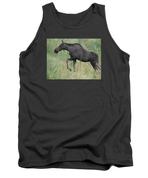 Lost Moose On The Loose In Evergreen Colorado Tank Top