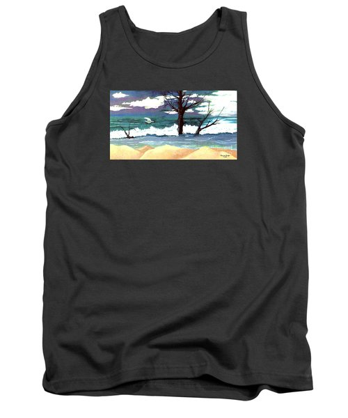 Tank Top featuring the painting Lost Swan by Patricia Griffin Brett