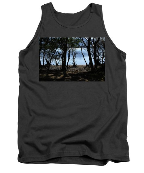 Tank Top featuring the photograph Lough Leane Through The Woods by Aidan Moran
